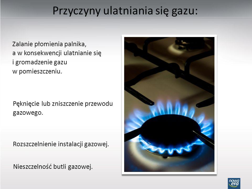 Przyczyny ulatniania się gazu:
