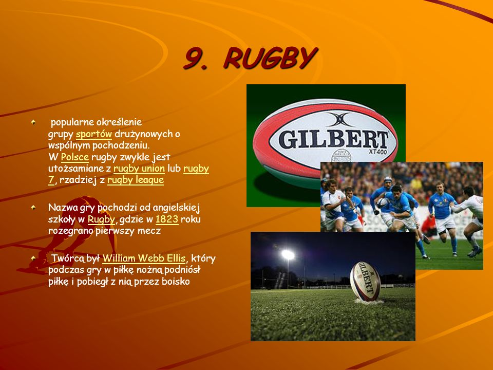 9. RUGBY
