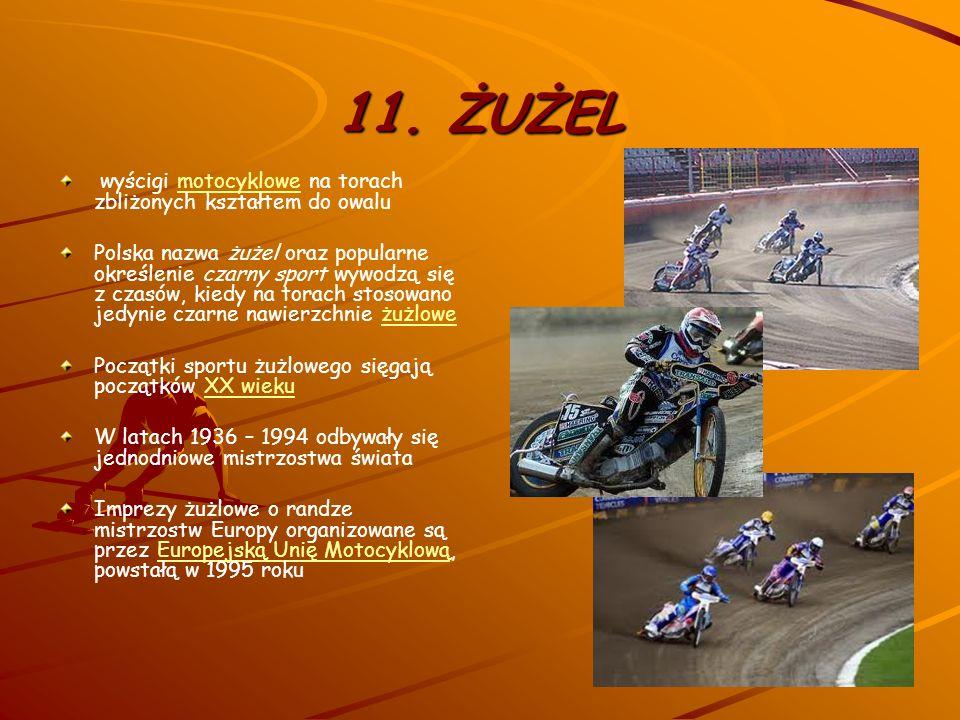 11. ŻUŻEL wyścigi motocyklowe na torach zbliżonych kształtem do owalu