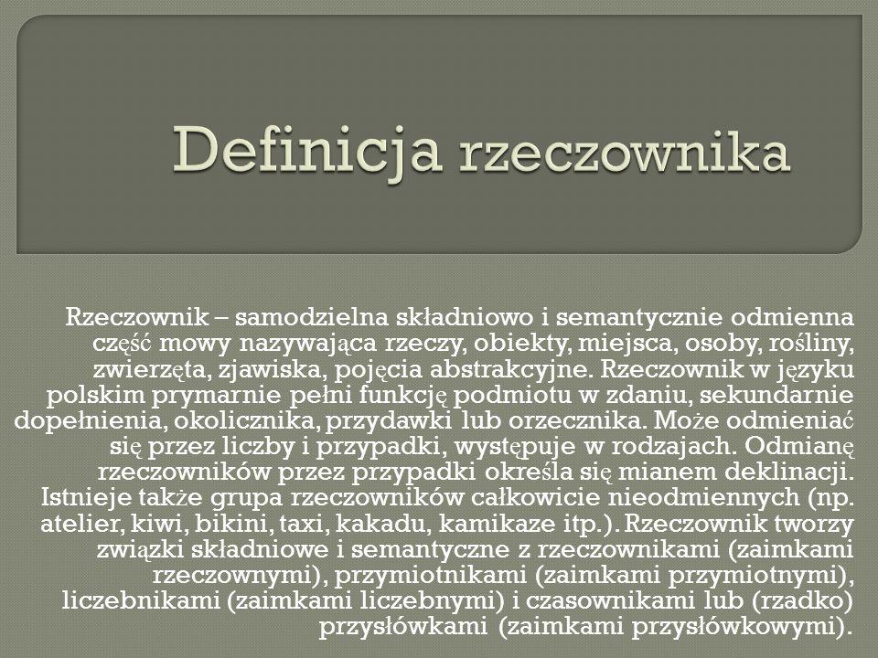 Definicja rzeczownika
