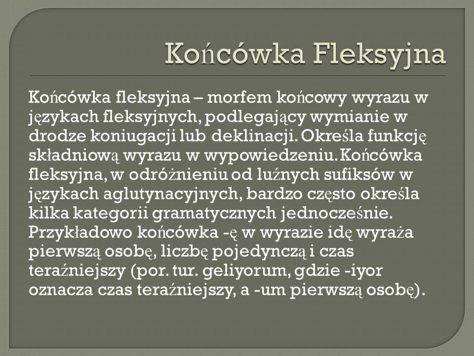 Końcówka Fleksyjna