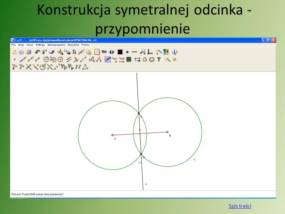 Konstrukcja symetralnej odcinka - przypomnienie