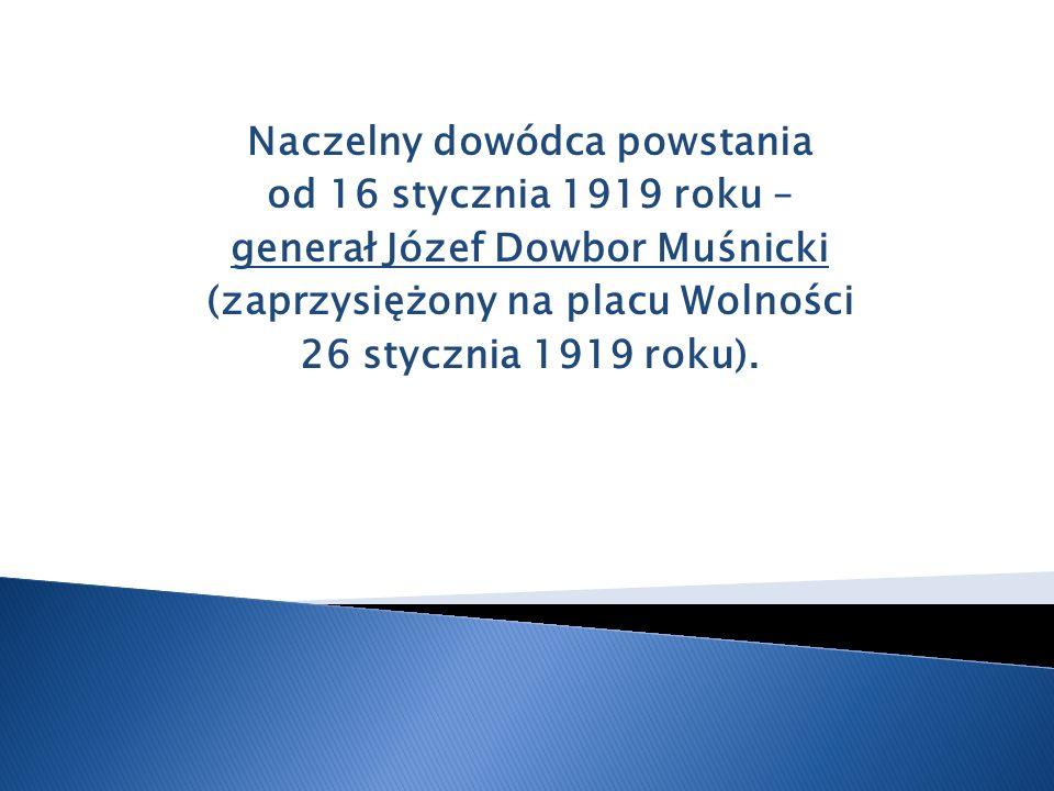 Naczelny dowódca powstania od 16 stycznia 1919 roku –