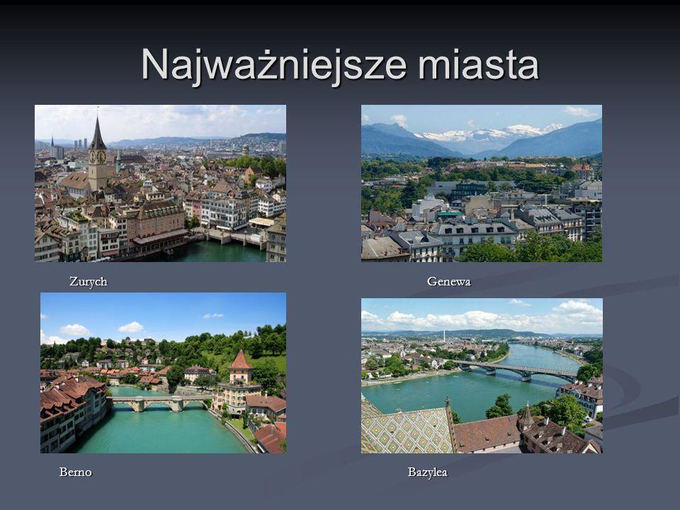 Najważniejsze miasta Zurych Genewa.
