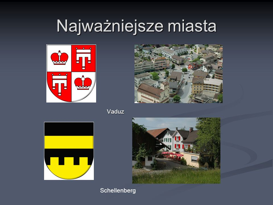 Najważniejsze miasta Vaduz Schellenberg