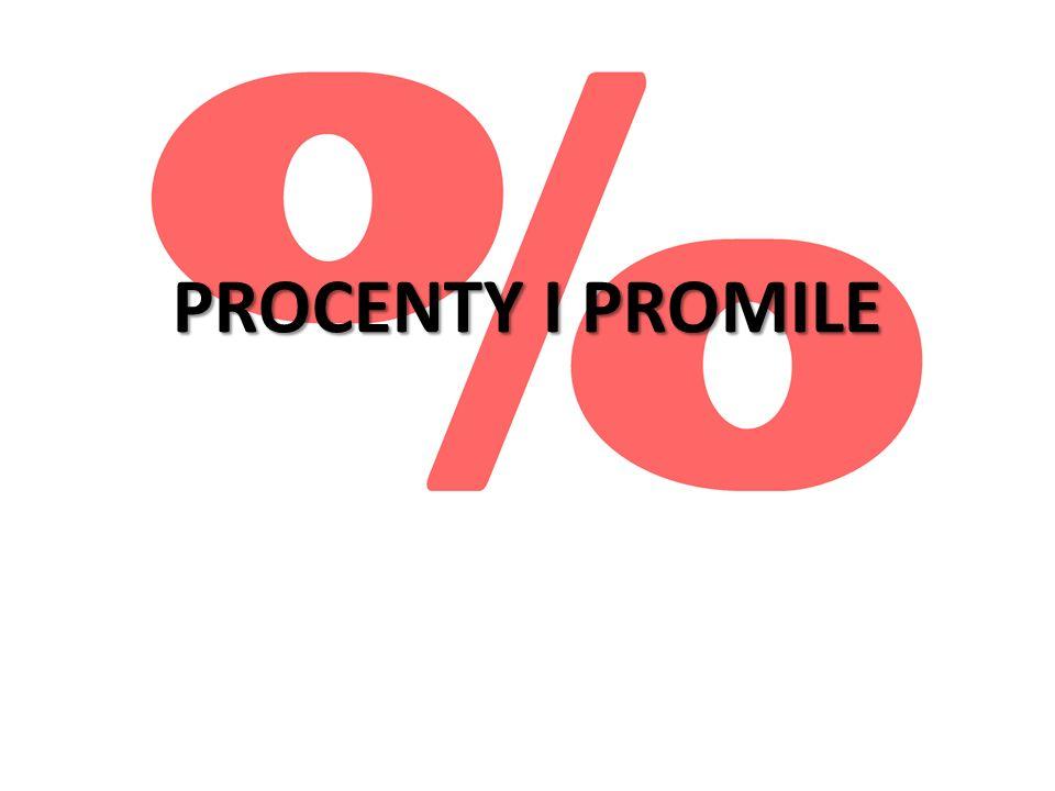 PROCENTY I PROMILE