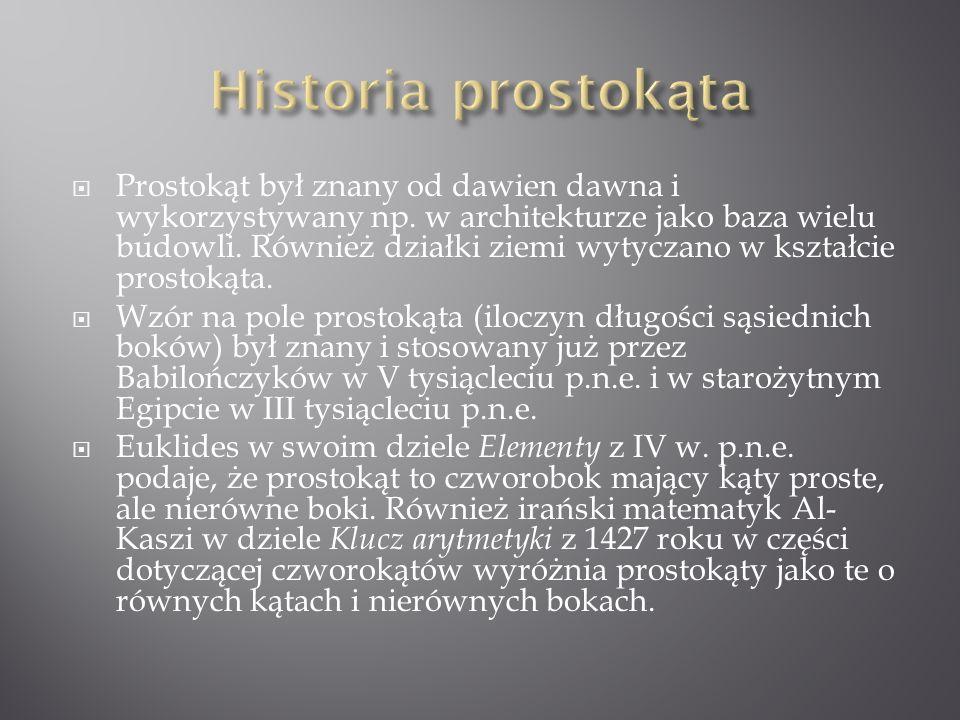 Historia prostokąta
