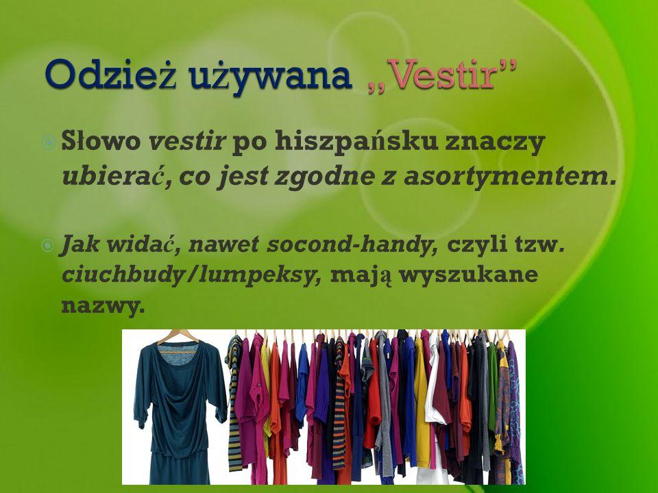 """Odzież używana """"Vestir"""
