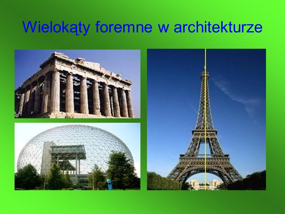 Wielokąty foremne w architekturze