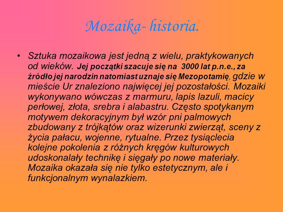 Mozaika- historia.