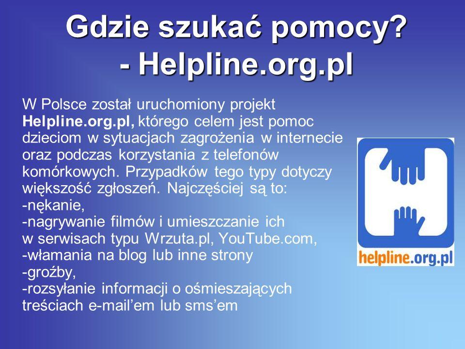 Gdzie szukać pomocy - Helpline.org.pl