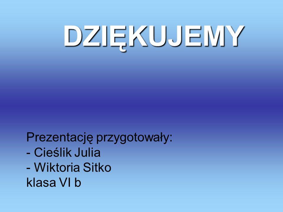 Prezentację przygotowały: - Cieślik Julia - Wiktoria Sitko klasa VI b
