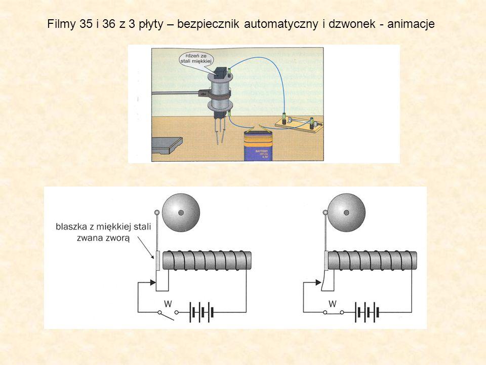 Filmy 35 i 36 z 3 płyty – bezpiecznik automatyczny i dzwonek - animacje