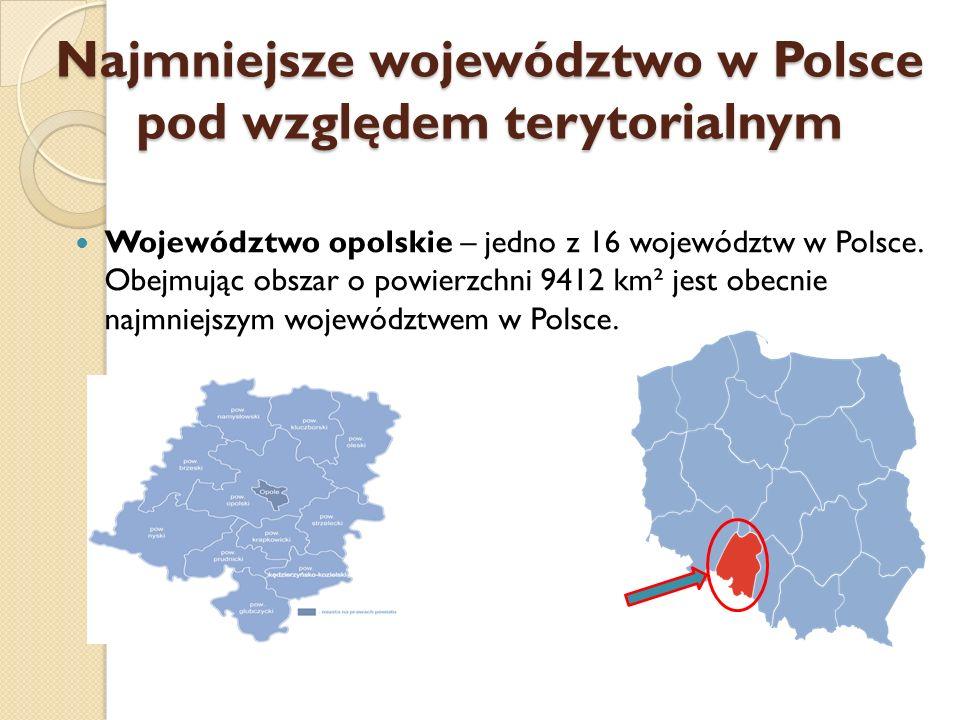 Najmniejsze województwo w Polsce pod względem terytorialnym