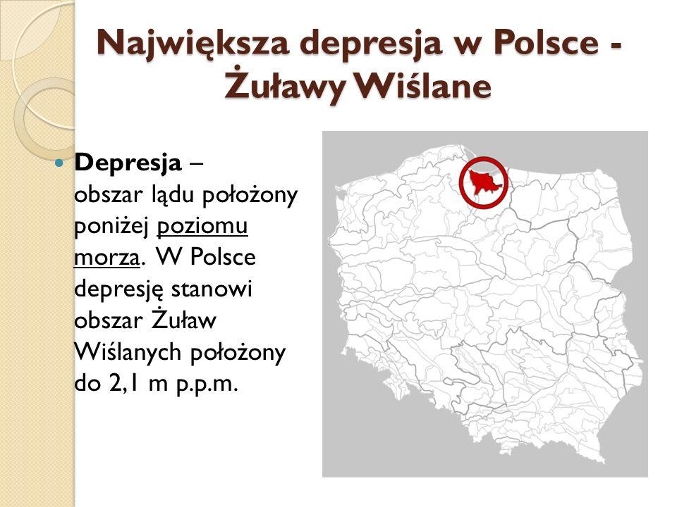 Największa depresja w Polsce -Żuławy Wiślane
