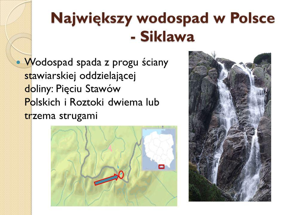 Największy wodospad w Polsce - Siklawa