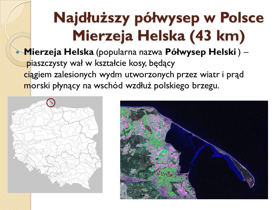 Najdłuższy półwysep w Polsce Mierzeja Helska (43 km)