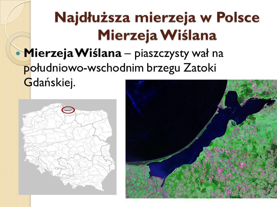 Najdłuższa mierzeja w Polsce Mierzeja Wiślana
