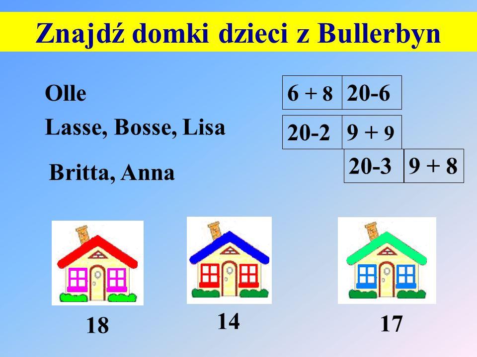 Znajdź domki dzieci z Bullerbyn