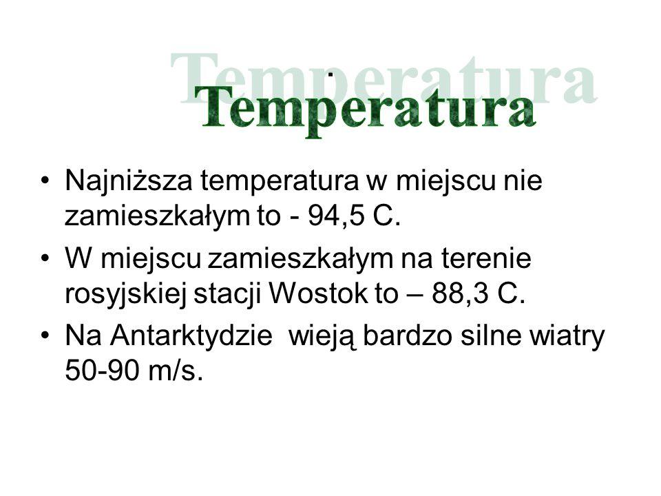 . Najniższa temperatura w miejscu nie zamieszkałym to - 94,5 C.
