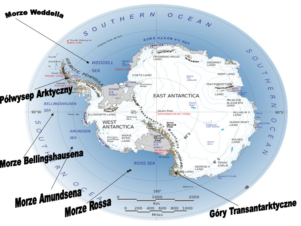 Morze Bellingshausena Góry Transantarktyczne