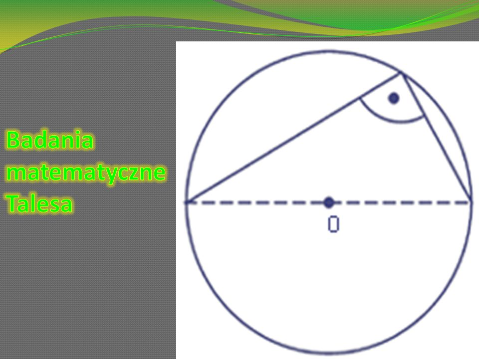 Badania matematyczne Talesa