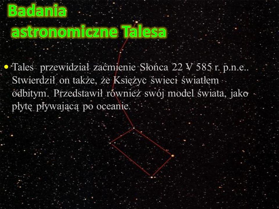 Badania astronomiczne Talesa