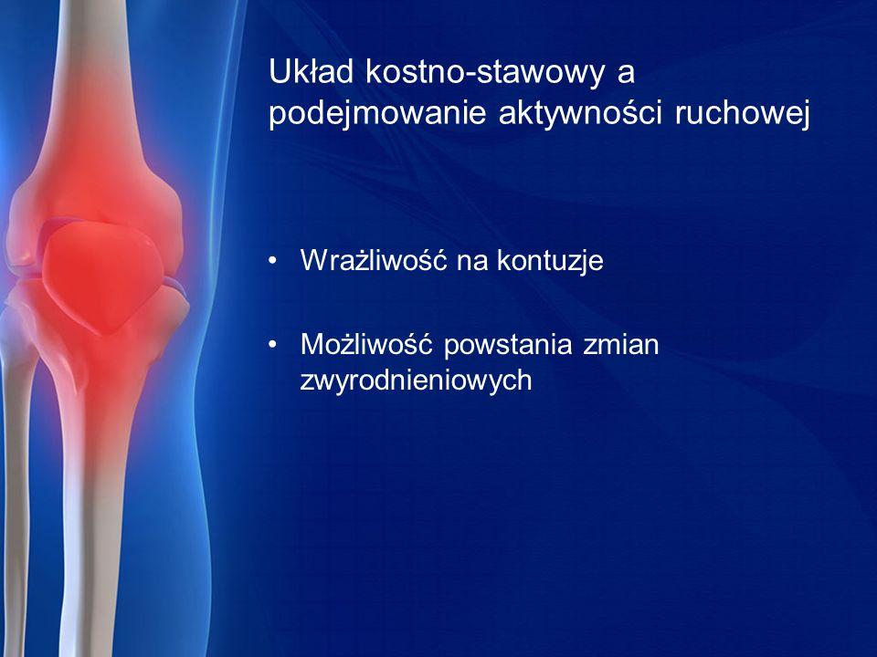 Układ kostno-stawowy a podejmowanie aktywności ruchowej