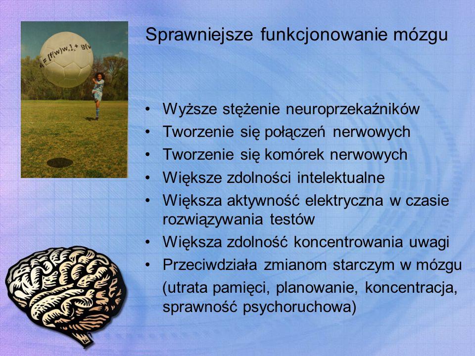 Sprawniejsze funkcjonowanie mózgu