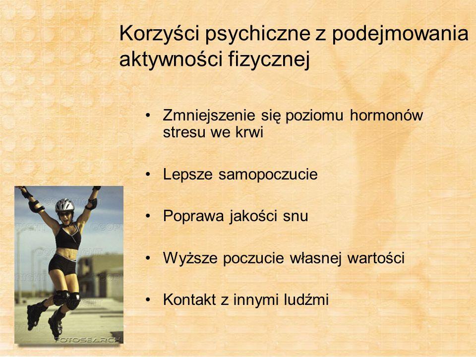 Korzyści psychiczne z podejmowania aktywności fizycznej