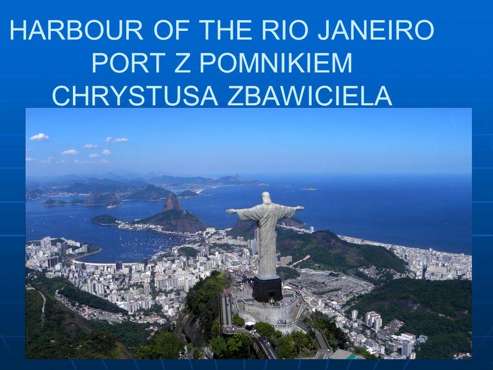 HARBOUR OF THE RIO JANEIRO PORT Z POMNIKIEM CHRYSTUSA ZBAWICIELA