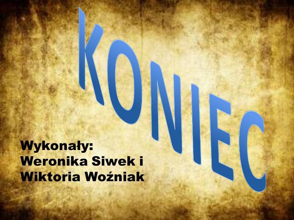 KONIEC Wykonały: Weronika Siwek i Wiktoria Woźniak
