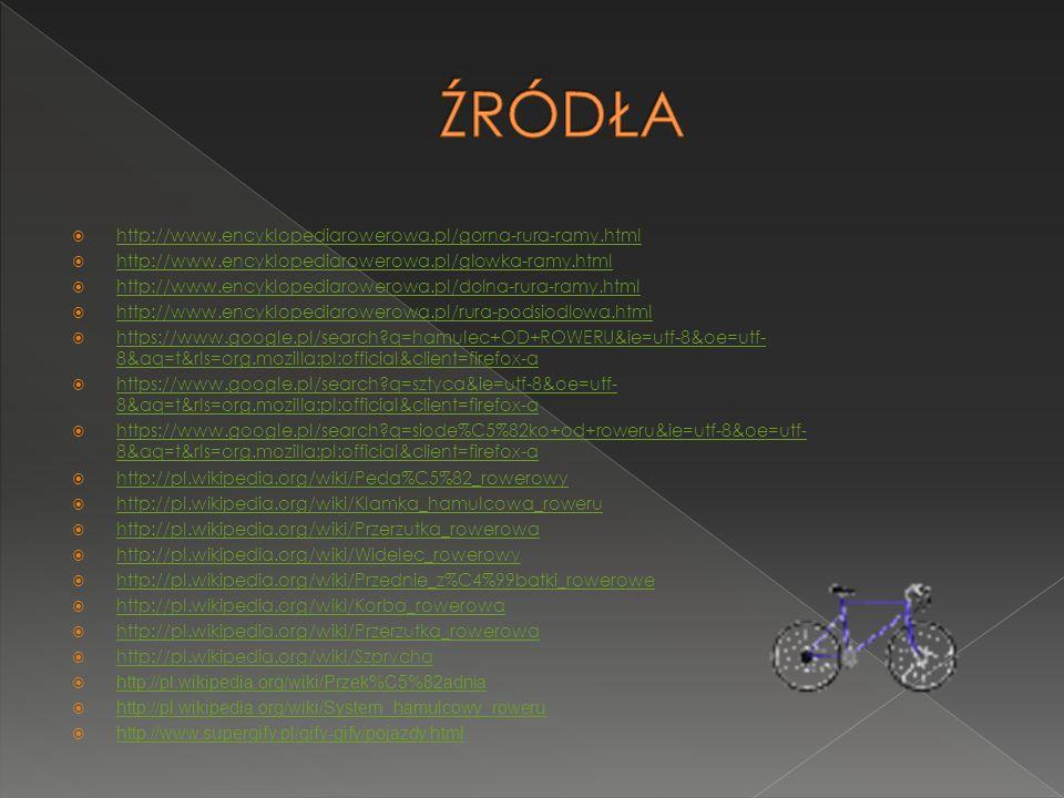 ŹRÓDŁA http://www.encyklopediarowerowa.pl/gorna-rura-ramy.html