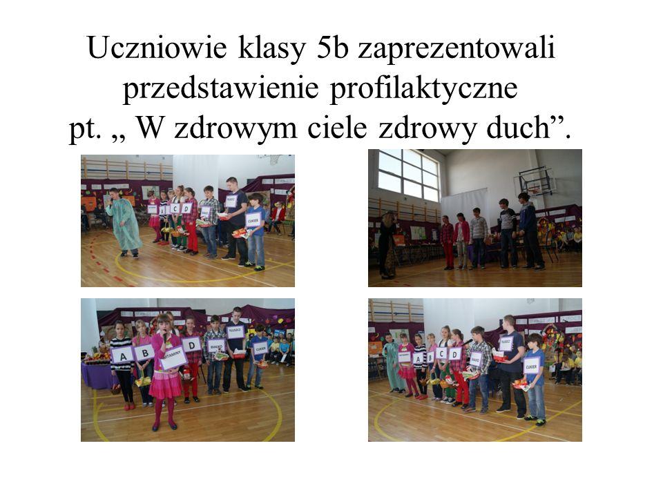 Uczniowie klasy 5b zaprezentowali przedstawienie profilaktyczne pt