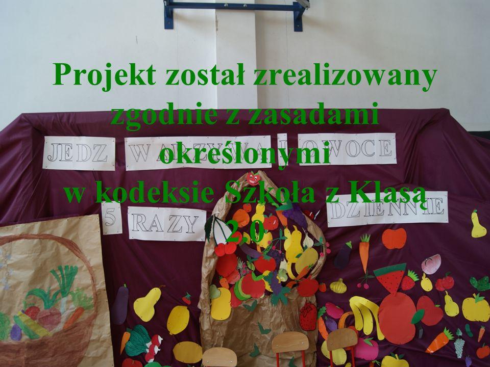 Projekt został zrealizowany zgodnie z zasadami określonymi w kodeksie Szkoła z Klasą 2.0