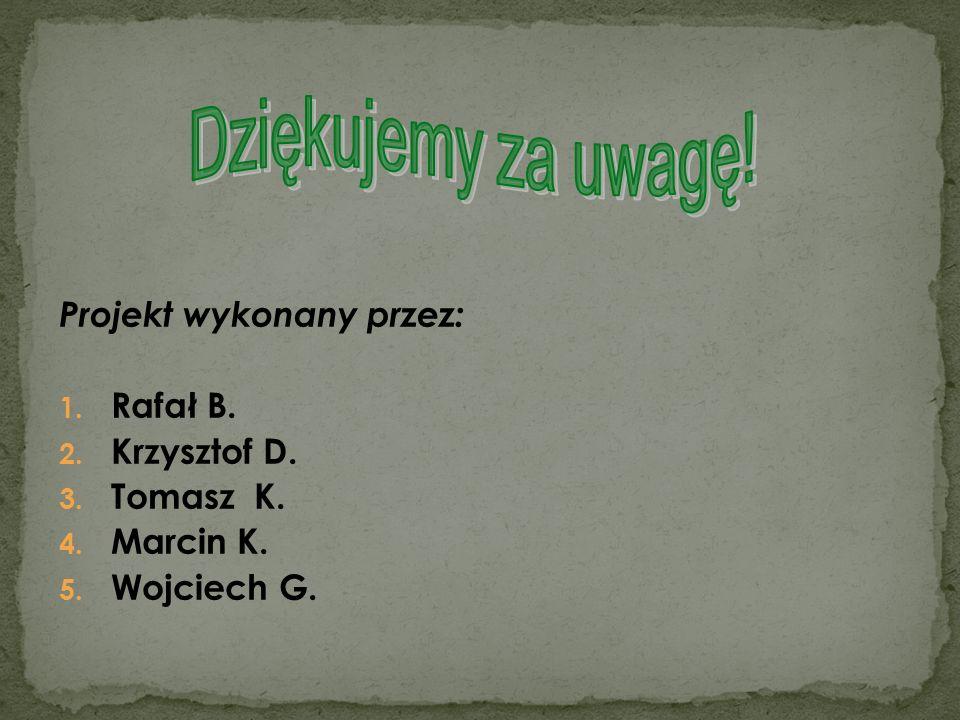Dziękujemy za uwagę! Projekt wykonany przez: Rafał B. Krzysztof D.