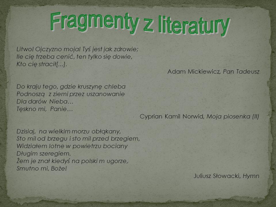Fragmenty z literatury