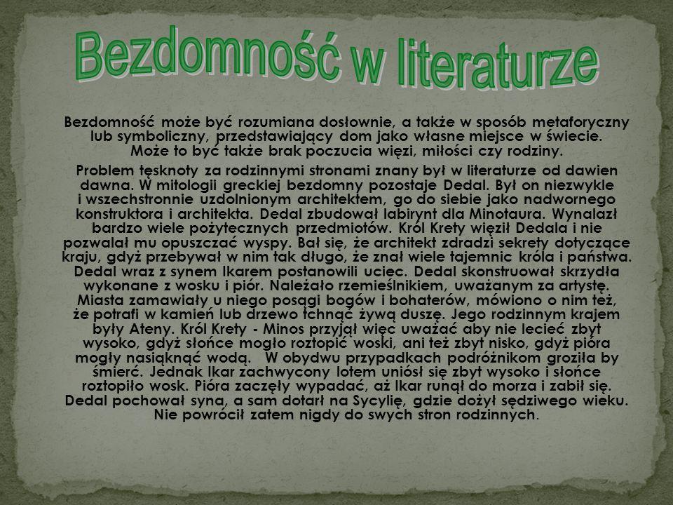 Bezdomność w literaturze