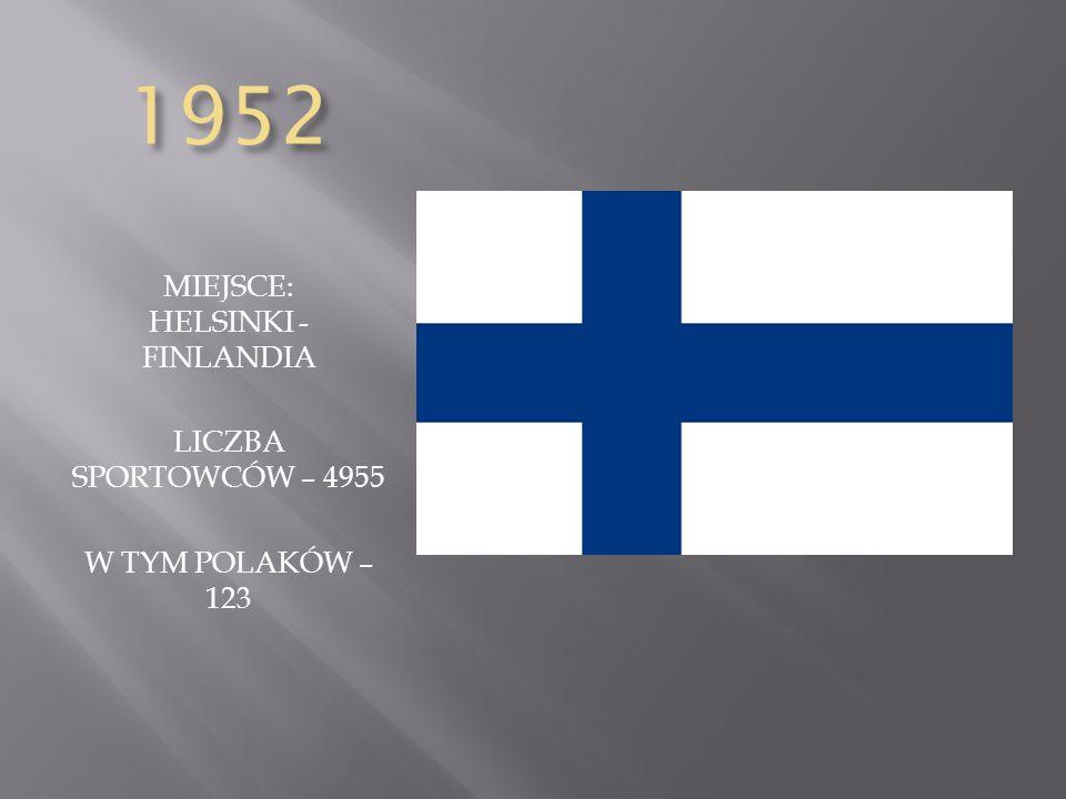 MIEJSCE: HELSINKI - FINLANDIA