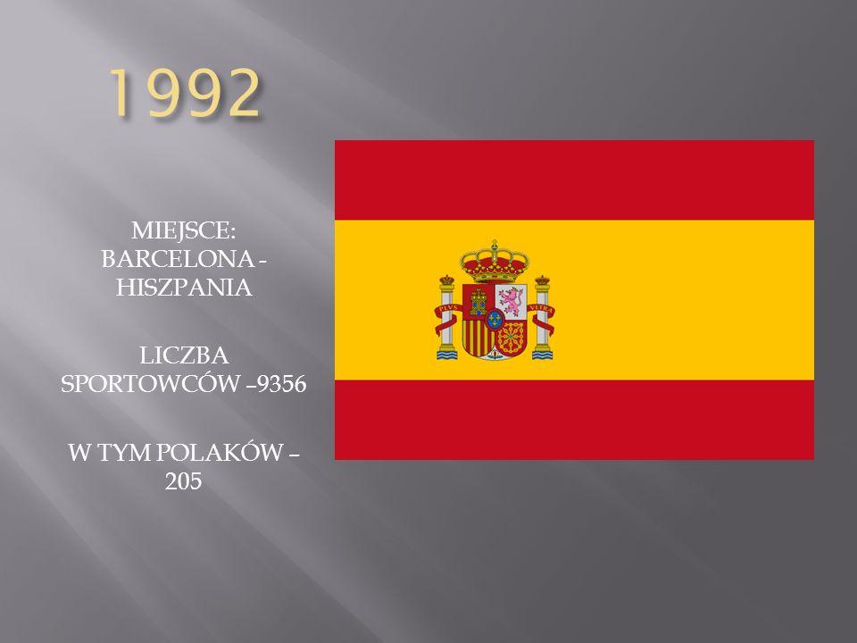 MIEJSCE: BARCELONA - HISZPANIA