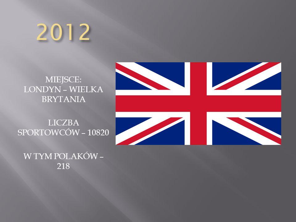 MIEJSCE: LONDYN – WIELKA BRYTANIA