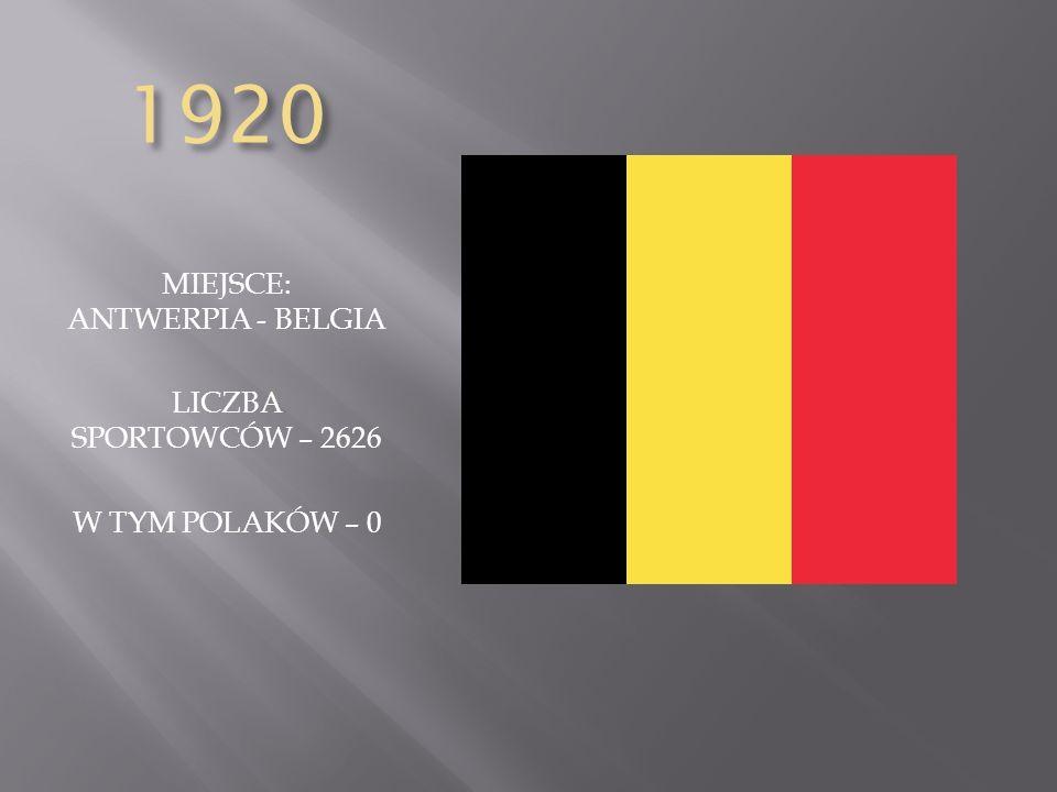 MIEJSCE: ANTWERPIA - BELGIA