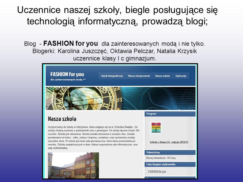 Blog - FASHION for you dla zainteresowanych modą i nie tylko.