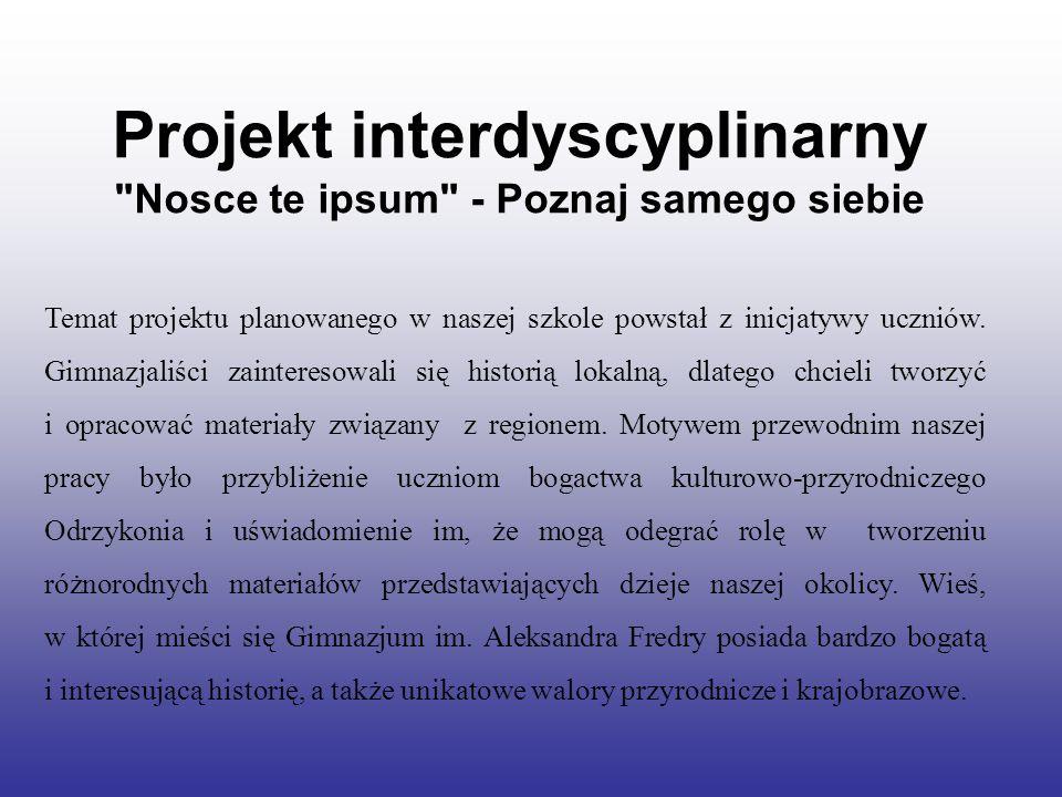 Projekt interdyscyplinarny Nosce te ipsum - Poznaj samego siebie