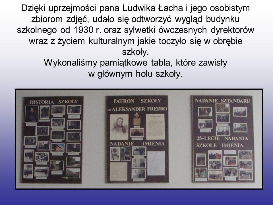 Dzięki uprzejmości pana Ludwika Łacha i jego osobistym zbiorom zdjęć, udało się odtworzyć wygląd budynku szkolnego od 1930 r.