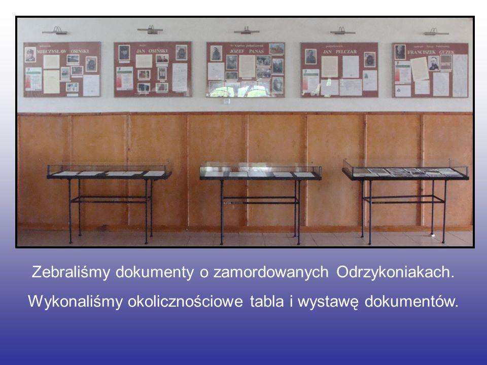 Zebraliśmy dokumenty o zamordowanych Odrzykoniakach.