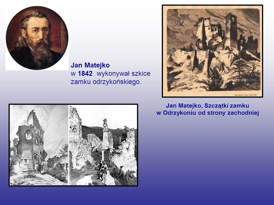 Jan Matejko, Szczątki zamku w Odrzykoniu od strony zachodniej