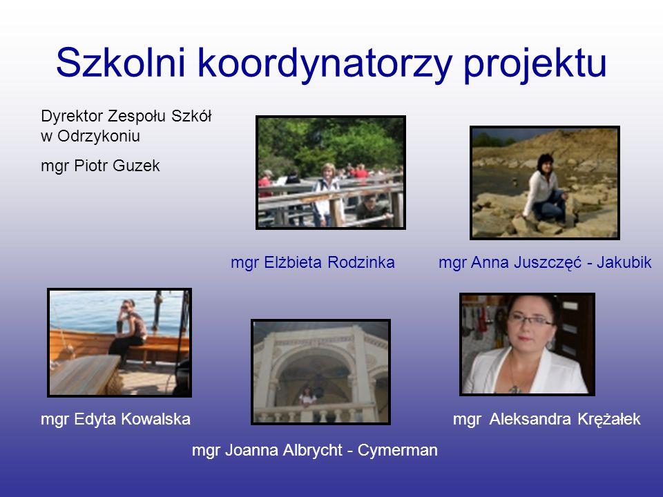 Szkolni koordynatorzy projektu
