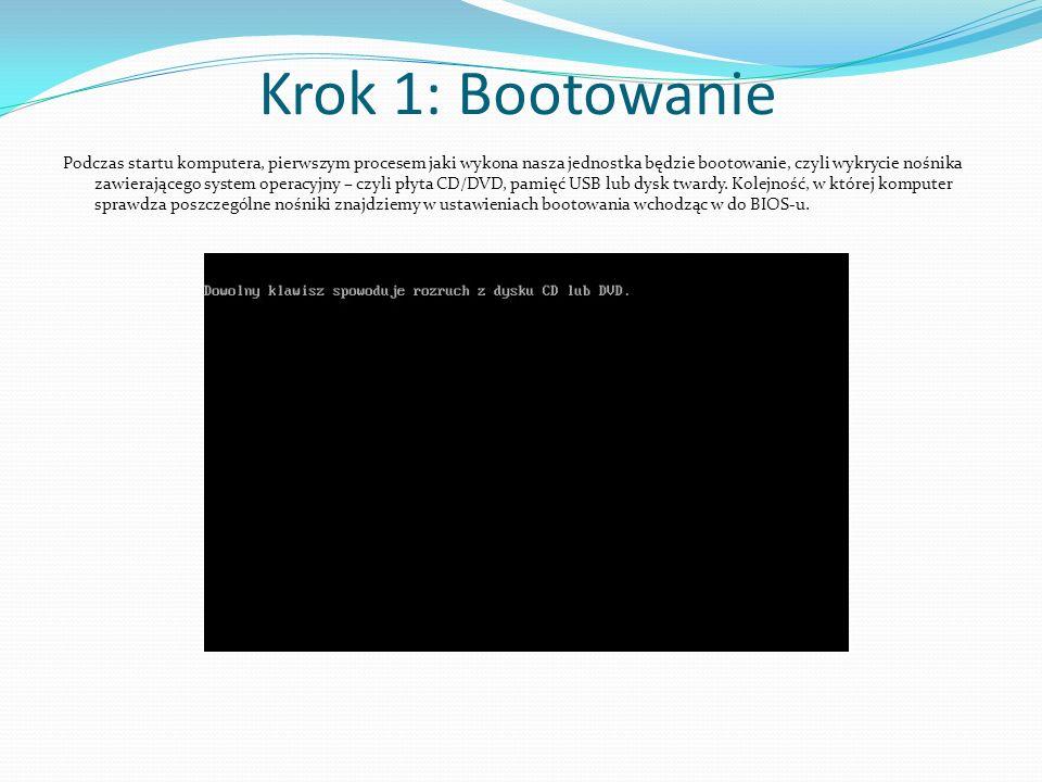 Krok 1: Bootowanie