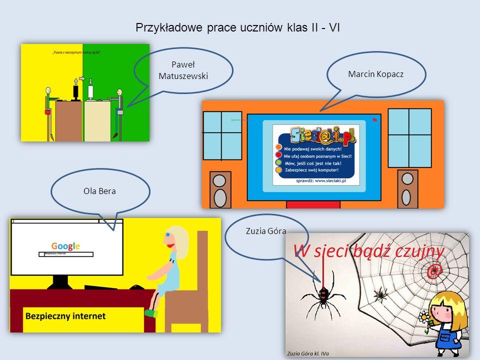 Przykładowe prace uczniów klas II - VI